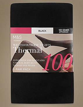 100 Denier Thermal Opaque Tights