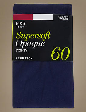 Collants opaques ultra-doux 60deniers , BLEU FONCÉ, catlanding