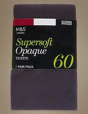 Collants opaques ultra-doux 60deniers , GRIS FONCÉ, catlanding