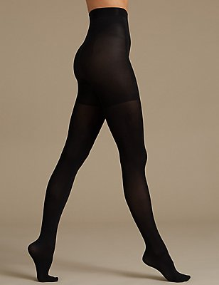 60 denier Secret Slimming™ Opaque Tights, BLACK, catlanding