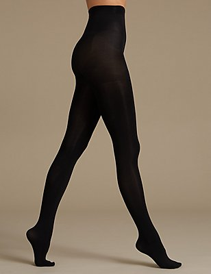 100 Denier Magicwear™ Cellulite Reducing Tights, BLACK, catlanding