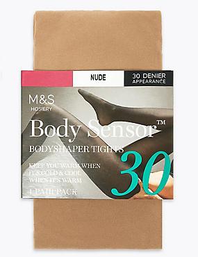 30 Denier Body Sensor™ Opaque Tights, NUDE, catlanding