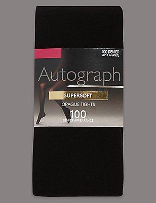 100 Denier Modal Opaque Tights , BLACK, catlanding