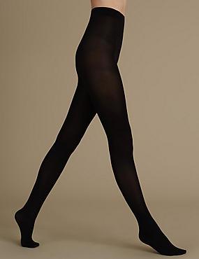 60 Denier Body Sensor™ Warm Toes, BLACK, catlanding