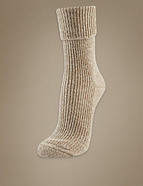 Luxury Pure Cashmere Heavyweight Ankle Socks, OATMEAL MIX, catlanding