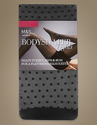 Secret Slimming™ Spot Mesh Tights, BLACK, catlanding