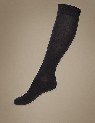Knee High Socks, BLACK, catlanding
