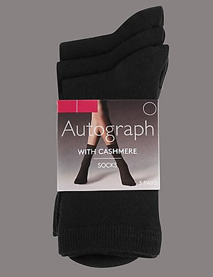 3 Pair Pack Modal Rich Ankle High Socks, BLACK, catlanding