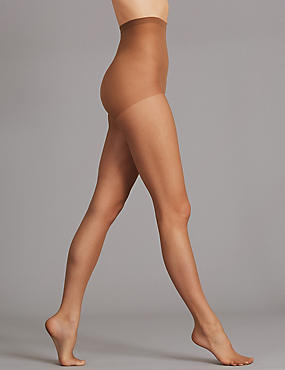 5 Denier Bare Invisibles Tights, SUNTAN, catlanding