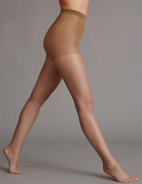 5 Denier Cool Comfort™ Bare Invisible Tights , DARK CARAMEL, catlanding