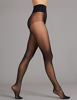 20 Denier Ladder Resist Seam Free  Matt Tights , BLACK, catlanding