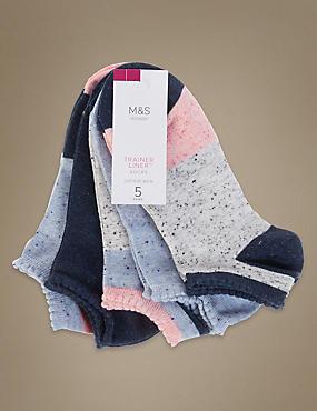 Lot de 5paires de socquettes à motif color block, BLEU MARINE ASSORTI, catlanding
