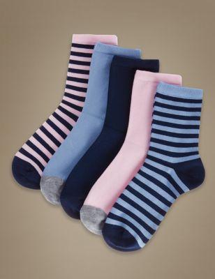 Хлопковые носки по щиколотку в ассортименте (5 пар)