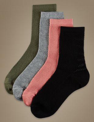 Ажурные носки по щиколотку в ассортименте (4 пары)