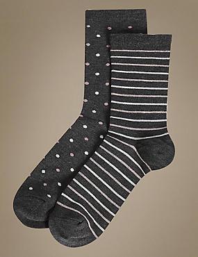 2 Pair Pack Heatgen™ Thermal Ankle High Socks, GREY MIX, catlanding