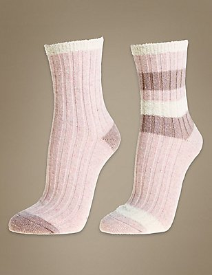 2 Pair Pack Thermal Socks, OATMEAL MIX, catlanding