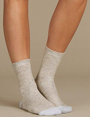 2 Pair Pack Ankle High Socks, NAVY MIX, catlanding