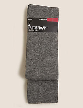 2 Pair Pack Socks with Silver Technology, GREY, catlanding
