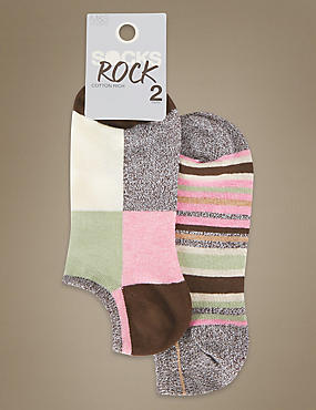 Assorted Trainer Liner™ Socks 2 Pair Pack