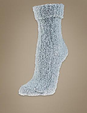 Chaussettes hauteur cheville avec laine, BLEU PÂLE, catlanding
