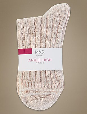 Heavyweight Ankle High Socks, PINK, catlanding