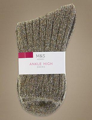 Sparkle Ankle High Socks, TAUPE, catlanding