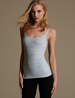 Lace Trim Vest with New & Improved Fabric, GREY MIX, catlanding