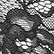 Louisa Lace High Leg Knickers, BLACK, swatch