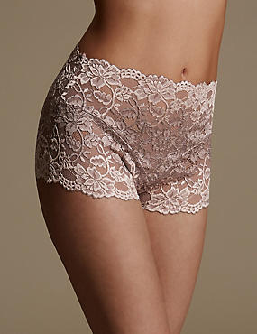 Two Tone All Over Lace Full Briefs, PRALINE, catlanding