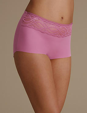 No VPL Curve Smooth Lines Full Brief, DARK RASPBERRY, catlanding