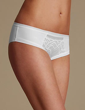 Smooth Lines Brazilian Knickers, WHITE, catlanding