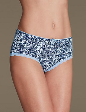 Cotton Rich Printed Midi Knickers