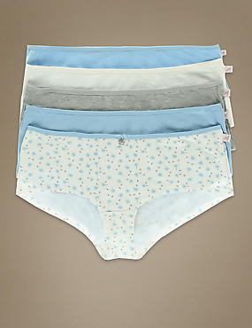 5 Pack Cotton Rich Assorted Low Rise Shorts