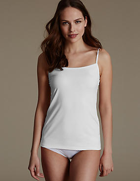 Nauwsluitend hemdje met boordjes van netstof, WIT, catlanding