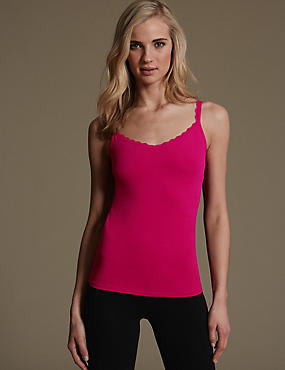 Secret Support™ Cotton Rich Vest with New & Improved Fabric, FUCHSIA, catlanding