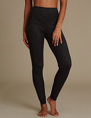 Thermal Glitter Leggings, BLACK, catlanding