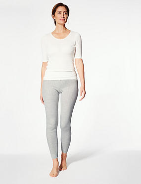 Thermal Ankle Length Leggings, GREY MARL, catlanding