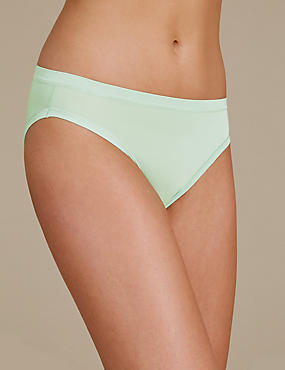 Modal Rich Flexifit No VPL High Leg Knickers, SPEARMINT, catlanding