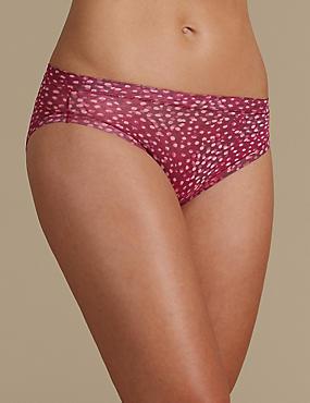 Culotte échancrée Flexifit en modal avec imprimé, CANNEBERGE, catlanding