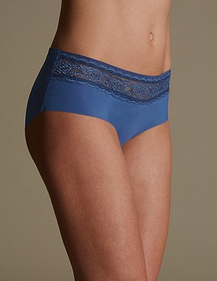 Smoothlines™ No VPL Lace Low Rise Shorts, BRIGHT BLUE, catlanding