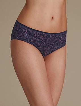 Culotte échancrée ultra-douce avec imprimé, sans coutures apparentes, INDIGO ASSORTI, catlanding