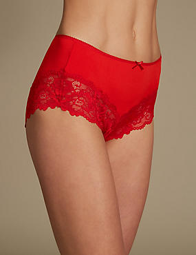Grown on Midi Knickers, BRIGHT RED, catlanding