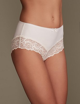 Grown on Midi Knickers, WHITE MIX, catlanding