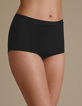 Ultimate Comfort Flexifit Midi Knickers , BLACK, catlanding