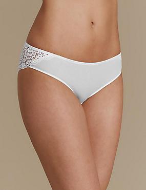 Brazilian-Slip mit Vintage-Spitze, WEISS, catlanding