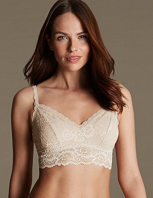 Isabella Lace Bralet, FAWN, catlanding