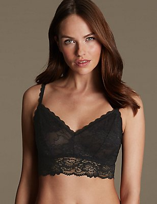 Isabella Lace Bralet, BLACK, catlanding