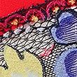 Floral Print No VPL Brazilian Knickers, FLAME, swatch