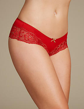 Brazilian Knickers, RED MIX, catlanding