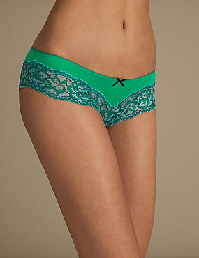 Brazilian Knickers, FRESH GREEN, catlanding